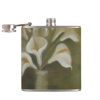 Calla Cut Flowers In A Vase Hip Flask