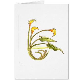 calla lilies #2 card