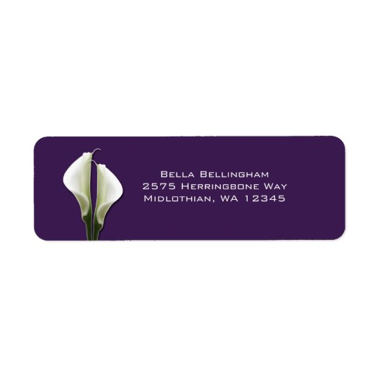 Calla Lilies Address Labels