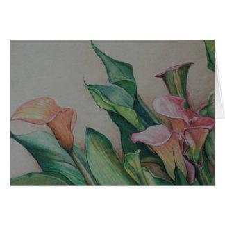 Calla Lilies Art Note Card