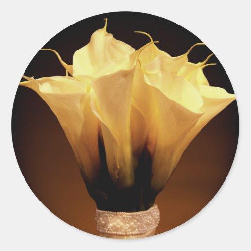 Calla lilies.... classic round sticker
