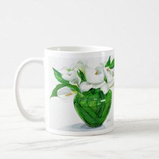 Calla Lilies in Green Vase Mug