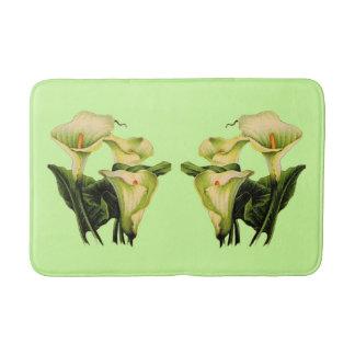 calla lilies print bath mat