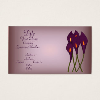 Calla Lilies (Purple) Business Card