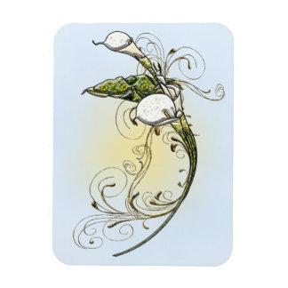 Calla Lilies Rectangular Photo Magnet