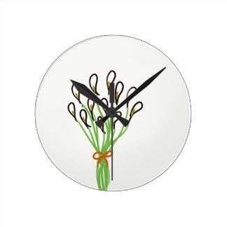 Calla Lilies Round Clock