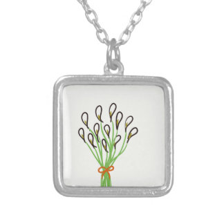 Calla Lilies Silver Plated Necklace