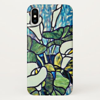 Calla Lilies Stain Glass Design Cell iPhone X Case
