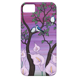 """calla lilies & tree swallows"" iphone 5 case"