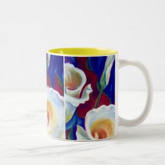 Calla Lilies Two-Tone Coffee Mug