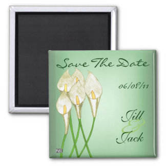 Calla Lilies (White) Save The Date Magnets