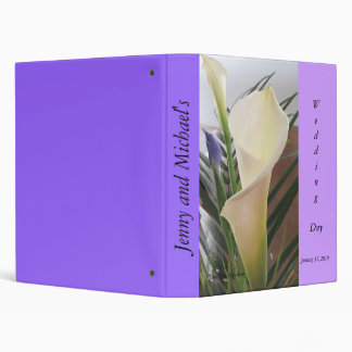 Calla Lillies and Iris Wedding Album Binder