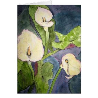 Calla Lillies Card