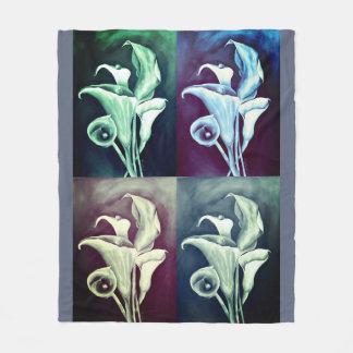 Calla Lillies Fleece Blanket