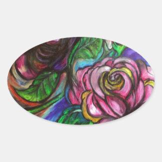 Calla Lillies Oval Sticker