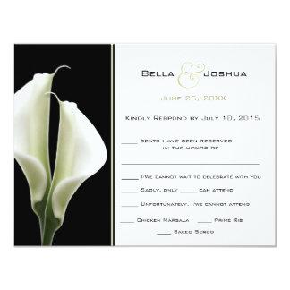Calla Lillies RSVP Card