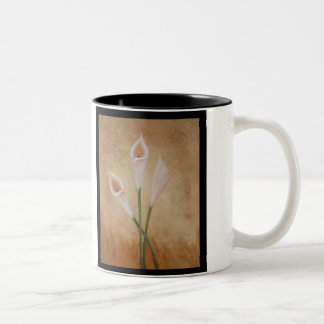Calla Lillies Two-Tone Coffee Mug