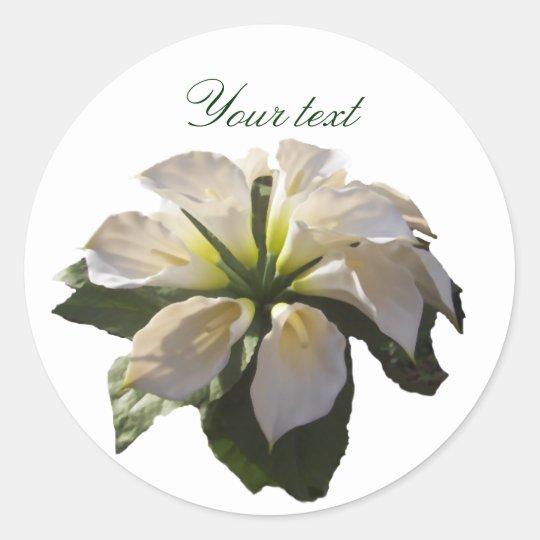Calla Lilly Bouquet~Custom Classic Round Sticker