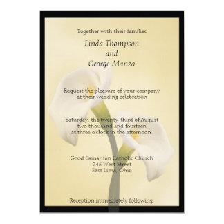 Calla Lilly framed Wedding Invitation