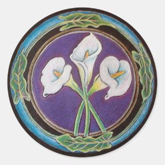 Calla lilly -  Mandala Sticker