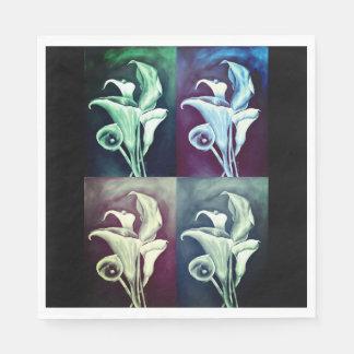 Calla Lilly - Retro Pattern Paper Napkin