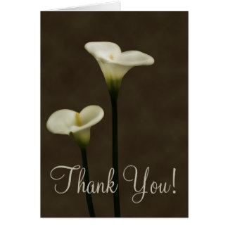 Calla Lilly Thank You Card