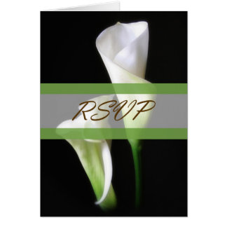Calla Lily 2 RSVP Wedding Card