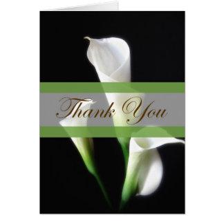 Calla Lily 3 Thank You Card