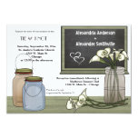 Calla Lily Chalkboard And Mason Jar Wedding Invite