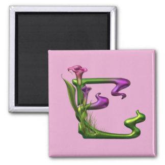 Calla Lily Fantasy Square Magnet