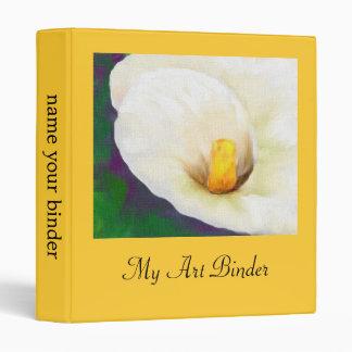 Calla Lily Floral binder