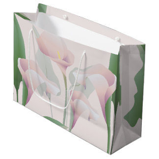 Calla Lily Floral LGB Large Gift Bag