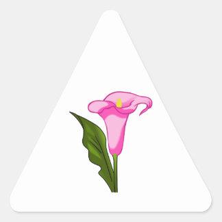CALLA LILY FLOWER TRIANGLE STICKER