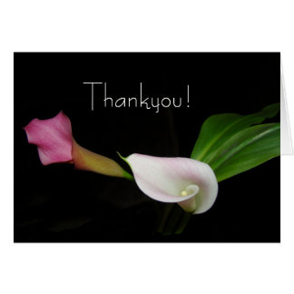 Calla Lily Flower Thankyou Card