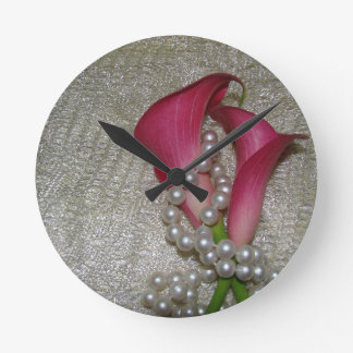Calla Lily Flowers Wall Clock