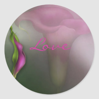 Calla Lily Love Round Sticker