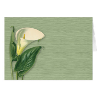 Calla Lily Note Card
