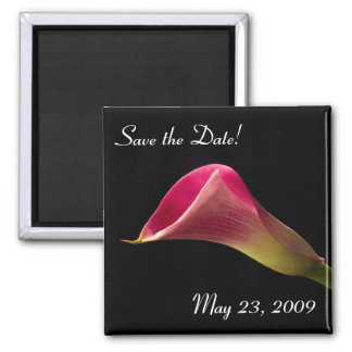 Calla Lily on Black, Save the Date! Magnet