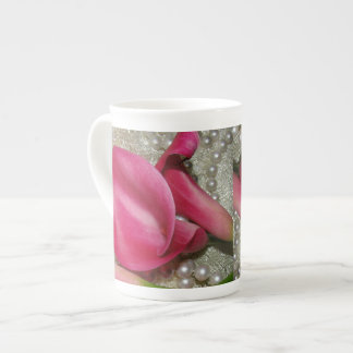 Calla Lily, Pearls & Lace Mug