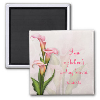 Calla Lily Pink Magnet ~ My Beloved