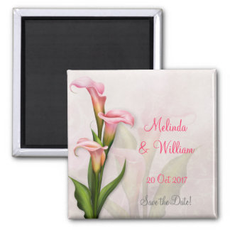 Calla Lily Pink Magnet ~ Save the Date