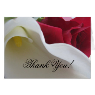 Calla Lily/Rose Wedding Thank You Card