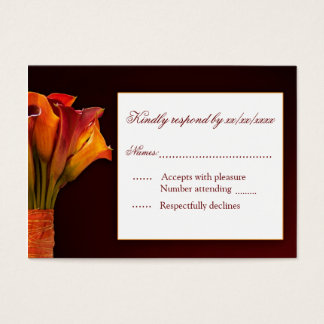 Calla lily RSVP response card