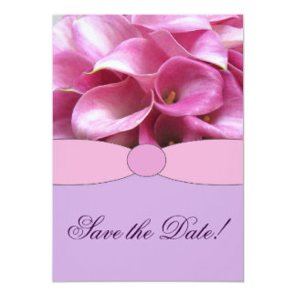 Calla Lily Save the Date Announcement