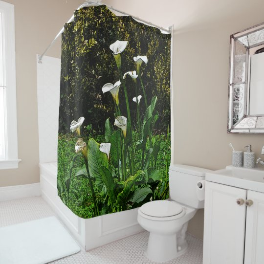 """CALLA LILY"" SHOWER CURTAIN"