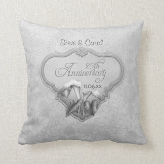 Calla Lily Silver Anniversary - Customize Throw Pillow
