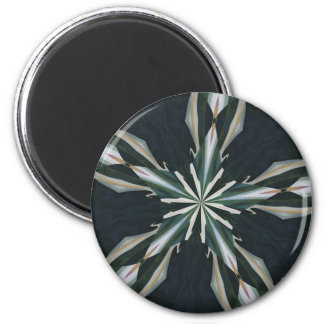 Calla Lily Star Kaleidoscope 2 Inch Round Magnet