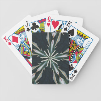 Calla Lily Star Kaleidoscope Bicycle Playing Cards