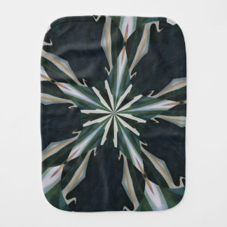 Calla Lily Star Kaleidoscope Burp Cloth