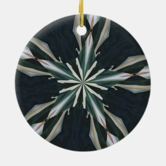 Calla Lily Star Kaleidoscope Ceramic Ornament